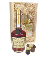Hennessy VS Cognac and Chocolates Gift Set in Wooden Box