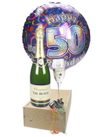 50th Birthday Champage Flute Gift