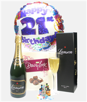 21st Birthday Champagne And Chocolates Gift