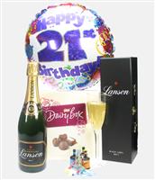 21st Birthday Champagne And Chocolates Gift