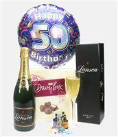 50th Birthday Champagne And Chocolates Gift