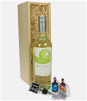 21st Birthday White Wine And Stopper Gift