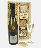 Langlois Brut Sparkling Wine and Pate
