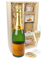 Veuve Clicquot NV Champagne and Pate