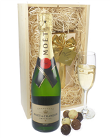 Moet et Chandon Champagne and Belgian Chocolates