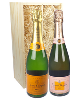 Veuve NV and NV Rose Twin Gift