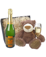 Veuve Clicquot Vintage Champagne and Teddy Bear