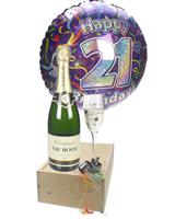 21st Birthday Champagne Flute Gift