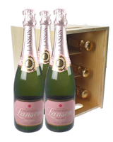 Lanson Rose Six Bottle Crate
