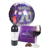 Red Wine And Chocolates 70th Birthday Gift