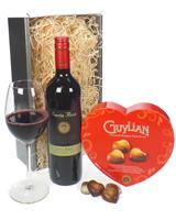 Red Wine Valentines Gift