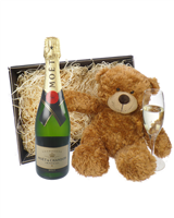 Moet et Chandon NV Champagne and Teddy Bear
