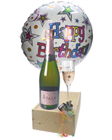 Rose Birthday Champagne Flute Gift