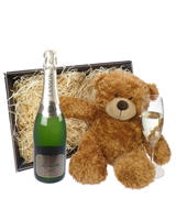 Lanson Gold Label Champagne and Teddy Bear