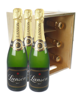 Lanson Black Label Six Bottle Crate