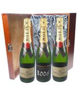 Moet NV and Vintage Triple Luxury Gift