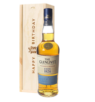 Glenlivet Founders Reserve Single Malt Whisky Birthday Gift In Wooden Box